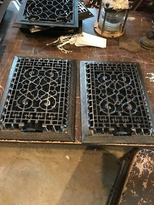Br 11  Three Available Price Separate Antique Cast-Iron Heat Grate 9.5 X 13.25