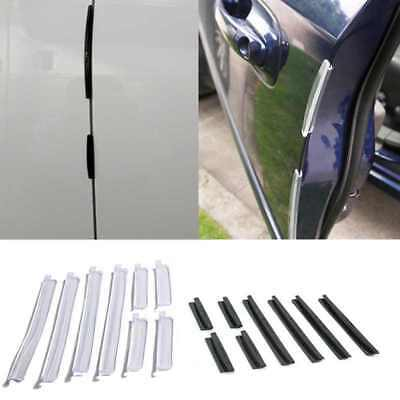 8X Clear Car Door Edge Protector Guard Anti-scratch Rub Strip Bumper Useful New