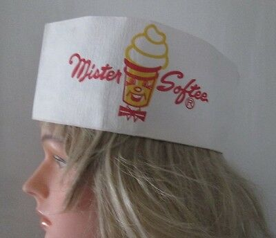 Vintage 1970 Paper Mr. Mister Softee Ice Cream Worker Hat Cap