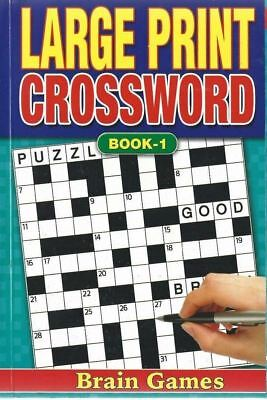 Assorted A5 Large Print Crossword Book Puzzle Books Trivia Fun Travel Journey