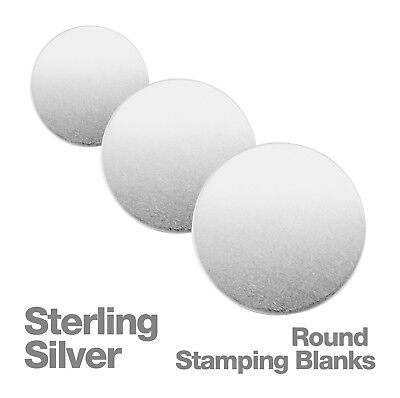 Sterling Silver Round Metal Stamping Blank Disc, 7mm-30mm Diameter