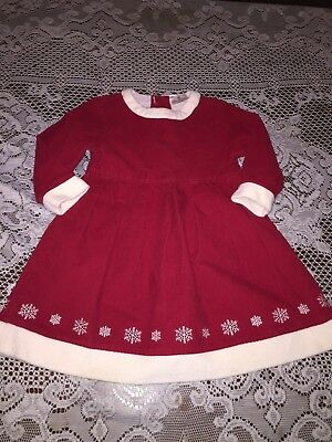 9a78c29cd0300 Girls Clothes Hanna Andersson Red Corduroy Snowflake Christmas Dress 100 4