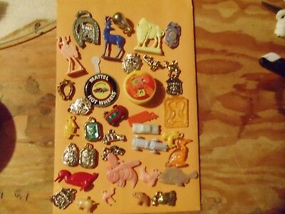 Vintage Lot of 34-Small Plastic/Metal Toys Cracker Jack Prizes Gumball Others