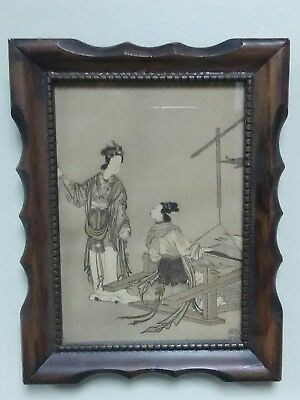 Antique 19th c. Chinese woodblock print