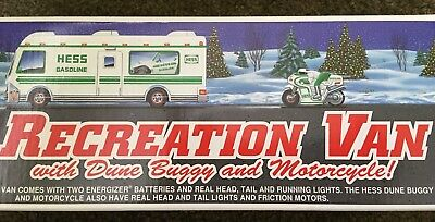 Hess 1998 Recreation Van w/ Dune Buggy and Motorcycle new in Box