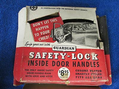 1949-51 Oldsmobile Chevy  Guardian Safety Lock Inside Door Handles Nos 315