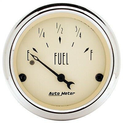 "AutoMeter 1817 Antique Beige Fuel Level Gauge 2 1/16"" 240 Ohms Emp 33 Ohms Full"