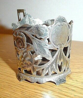 Antique Russian Silver Tea Cup Holder