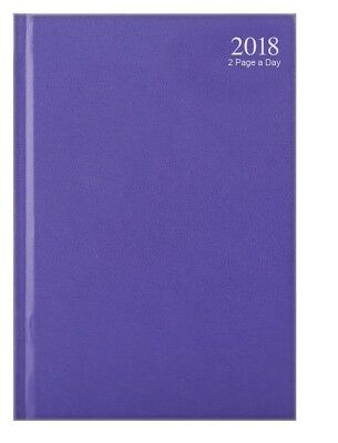 Purple 2018 diary A4/A5/A6 Page a Day/Week to View Pastel Mauve year calendar
