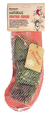 Rosewood Naturals Christmas Stocking For Small Animals Festive Treats