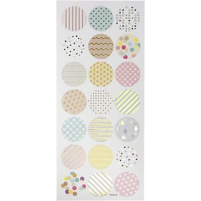 Self Adhesive Gold Matte Paper Pastels Stickers For Card Christmas Decorations