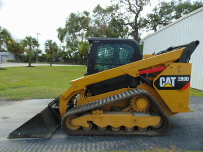 "2015 Cat 299D Turbo 2-Speed Enclosed A/c & Heat Cab"" Hyd Coupler - Self Leveling"