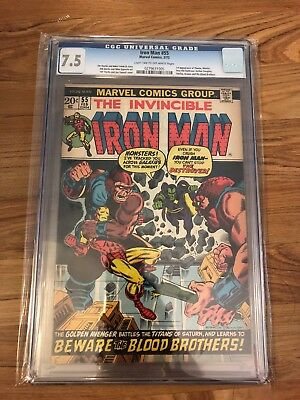 Iron Man #55 CGC 7.5 (W) 1st Appearance of Thanos & Drax The Destroyer