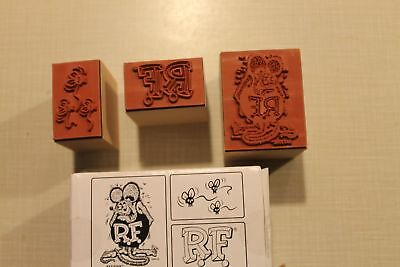 Rat Fink Ink Stamp Set of 3 ~ New.  Ed Roth, Big Daddy Last One