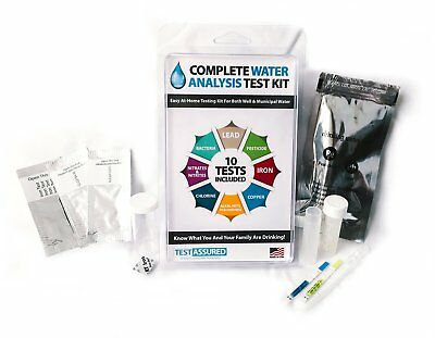 Drinking Water Test Kit - 10 Minute Testing For Lead Bacteria Pesticide Iron and