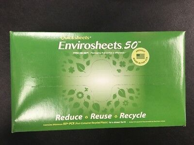 Box Of 1000 Quicksheets, •Grease Proof  •Waterproof •Non-Absorbent