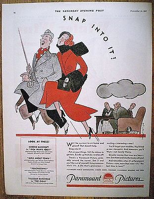 1931 PARAMOUNT PICTURES AD ~  REA IRVIN ART ~ NEW YORKER  Eustace Tilley Creator