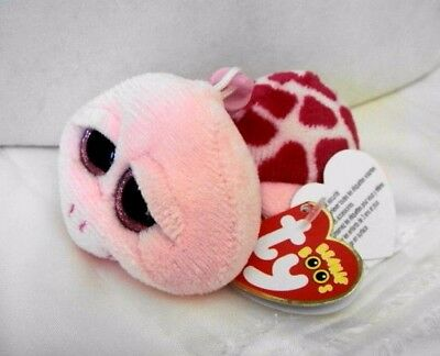 Ty Rare Retired Beanie Boo SHELBY the Pink Sea TURTLE CLIP MWMT Free Ship