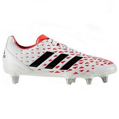 adidas Rugby Boots Kakari Elite SG White & Red Size UK 9.5 or 10