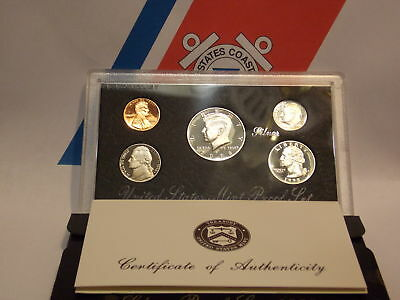 1998 S Silver Proof Set US MintWith COAOriginal Packaging Free Shipping 5 coin