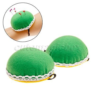 DIY Craft Needle Pin Cushion Holder Cute Cross Stitch Sewing Accessories 8cm Dia