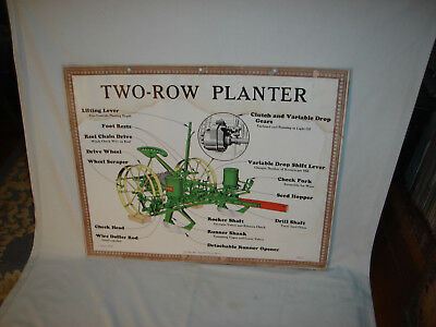 John Deere Two-Row Planter ; Factory Instructional Aid ;1930's Vintage  Print