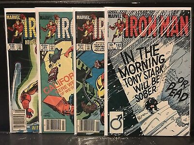 Lot of 4 Iron Man #182 183 184 185 (1968 Marvel) Combined Shipping Deal!