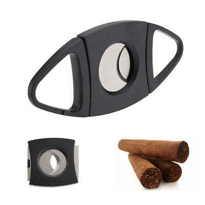 Stainless Steel Pocket Cigar Cutter Double Blades Scissors Knife Tobacco Gift
