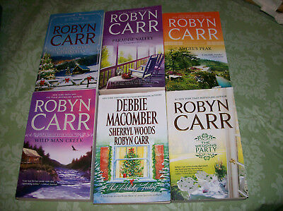 Robyn Carr 6 Book Lot Virgin River Christmas Paradise Valley Romance