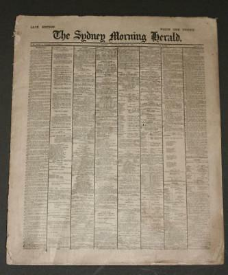 Antique 1910 SYDNEY MORNING HERALD NEWSPAPER Miniature, 26pg, Late Edition+ Ads