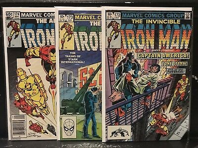 Lot of 3 Iron Man #172 173 174 (1968 Marvel) Combined Shipping Deal!