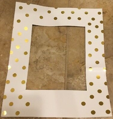 "NEW Pottery Barn Kids GOLD DOT Frame Insert 13"" x 16"" **issue**"