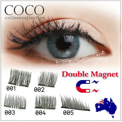 4 Pcs 3D Magnetic False Eyelashes No Glue Handmade Natural Extension Eye Lashes