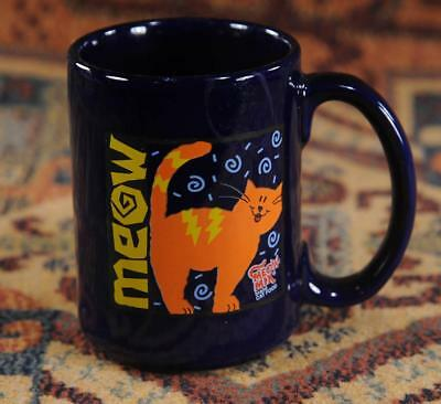 Meow- Blue -Meow Mix Brand Cat Food Coffee Cup Mug - Ceramic