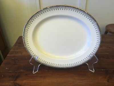 Vintage Burleigh Ware Burgess & Leigh Small Black & White Meat Platter