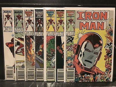 Lot of 7 Iron Man #212 213 214 215 216 217 219 (1968 Marvel) Combined Shipping!