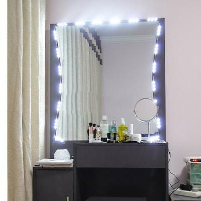 10ft Dressing Mirror Lighted Cosmetic Makeup Vanity LED White Lights  w/ Remote#