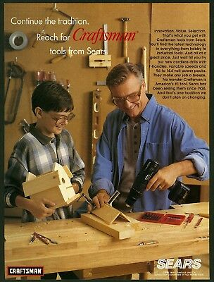 1996 Print Ad Sears Craftsman Tools
