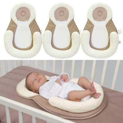 Baby Cotton Sleep Pad Mat Support Cushion Antiroll Anti Rollover Sleeping Nest#