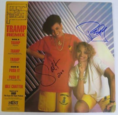 "SALT N PEPA Signed Autograph ""Tramp/Push It"" Album Vinyl Record LP by 2  RAP"