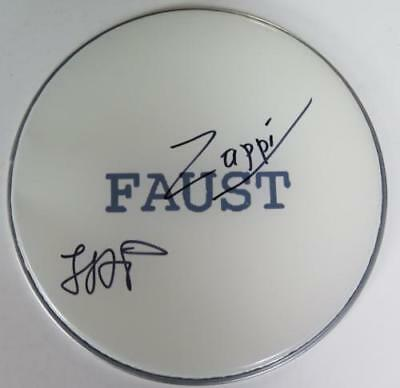 """FAUST (the band) Signed Autograph 13"""" Drum Head  German Krautrock"""