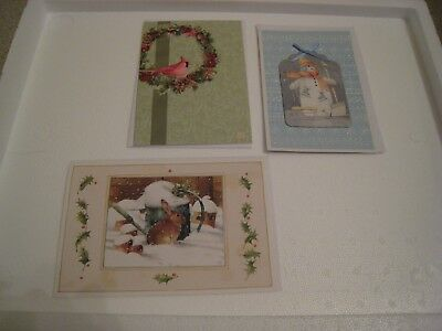 Marjolein Bastin Three Assorted Christmas Cards - Retired    ( Lot 2)