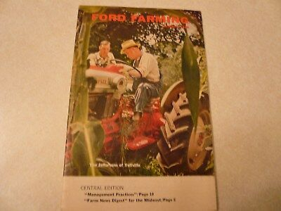 Vintage Summer 1960 Ford Farming Brochure Dealer West Concord MN 32 Pages