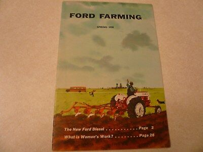 Vintage Spring 1958 Ford Farming Brochure Dealer West Concord MN 32 Pages
