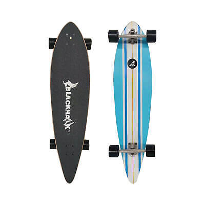 "BLACKHAWK 41x9.5"" 9Ply Maple Deck ABEC-7 Longboard Cruiser Down Hill Skateboard"