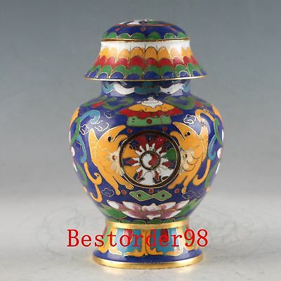 Chinese Decorative Cloisonne Handwork Carved Flower Pot PJ1156