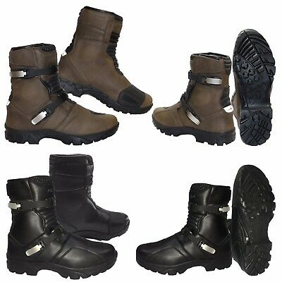 New Winter Motorbike Black Waterproof Motorcycle Touring Leather Boots Racing