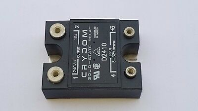 NEW Crydom D2425K Solid State Relay 12mA 32V DC-IN 25A 280V AC-OUT 4-Pin