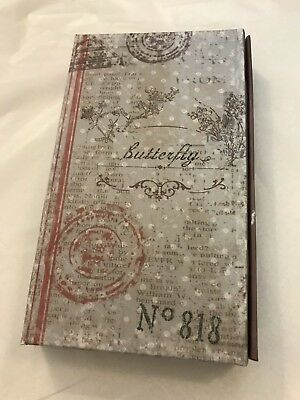 NEW french chic honeybee lined notebook diary journal  address book blank