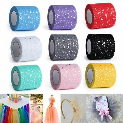 Glitter Sequin Tulle Rolls 25 yards 6.5cm DIY Craft  Birthday Party Decors
